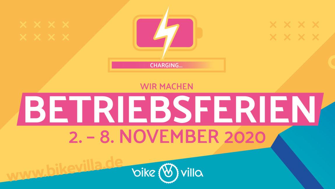 Betriebsferien vom 2. – 8. November 2020