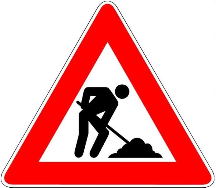 Bauarbeiten am Knotenpunkt B8/Offheimer Weg